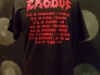 Exodus European tour shirt back