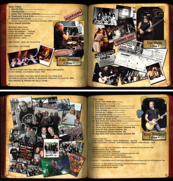Ruffians - cd booklet